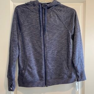 NWT zip up the front hoodie in blue